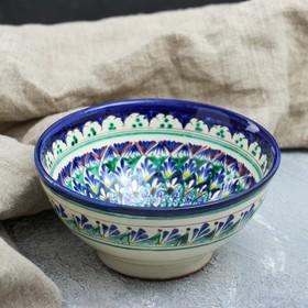 Коса малая Риштанская Керамика 0.5 л, 15см, сине-зелёная, микс Ош