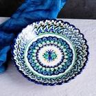 Тарелка глубокая Риштанская Керамика, 20см, рифлёная кайма - Фото 2
