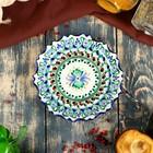 Тарелка плоская рифленая Риштанская Керамика 15см - Фото 2