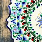 Тарелка плоская рифленая Риштанская Керамика 15см - Фото 3