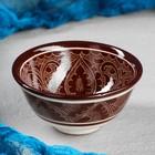 Пиала большая Риштанская Керамика, 0.15 л, 11.5см, коричневая