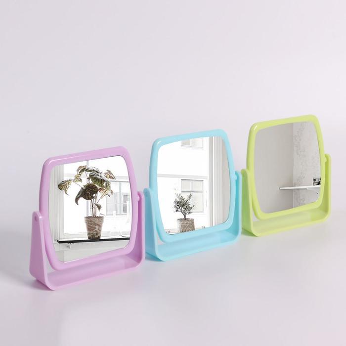Зеркало на подставке, зеркальная поверхность — 10 × 10 см, МИКС