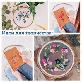 Нитки мулине, 8 ± 1 м, цвет тёмно-коричневый №844 Ош