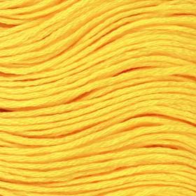 Нитки мулине, 8 ± 1 м, цвет ярко-жёлтый №973