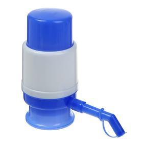 Помпа для воды LuazON, механическая, малая, под бутыль от 11 до 19 л, голубая