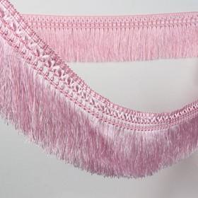 Тесьма «Бахрома», 12 см, 12 ± 1 м, с двойной окантовкой, цвет розовый Ош