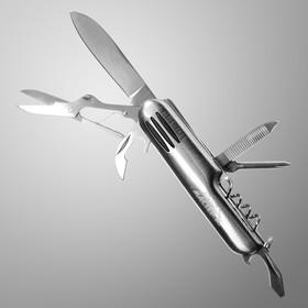 Нож швейцарский Мастер К. 7в1, на рукояти 3 полоски, хром Ош