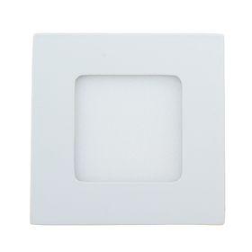 Панель квадратная встраиваемая 3 Вт, 4000 К, 210 Лм, 120°, 15 LED 2835, 160-260 В , 85х85мм Ош