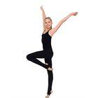 Леггинсы для гимнастики с пяткой, размер 26, цвет чёрный