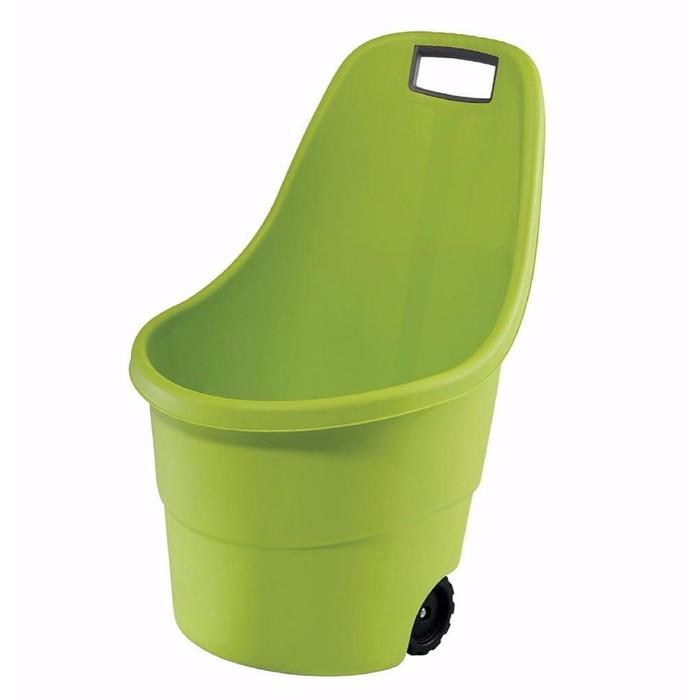Тележка садовая Keter, двухколёсная, 55 л, пластик, зелёная