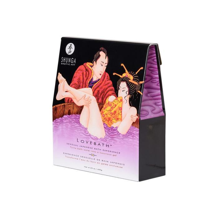 Гель для ванной Shunga Lovebath™ «Чувственный лотос», фиолетовый, 650 г