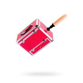 Секс-машина чемодан Diva Wiggler, 2 насадки, металл, цвет розовый, 17 см