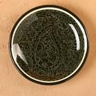 Тарелка плоская Риштанская Керамика 15,5см зеленый - Фото 2