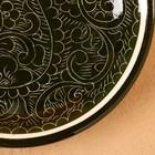 Тарелка плоская Риштанская Керамика 15,5см зеленый - Фото 3