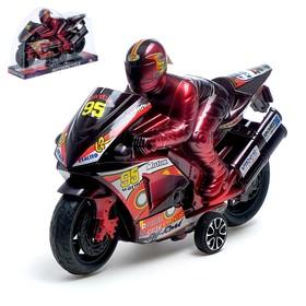 Мотоцикл инерционный «Спортбайк», с гонщиком, цвет МИКС Ош