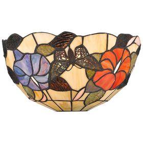 Бра 'Бабочки в цветах', 40Вт Е14, разноцветный Ош