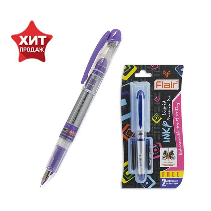 Ручка перьевая Flair Inky + 2 штуки запасных картриджей, МИКС, в блистере