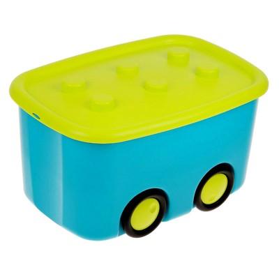Ящик для игрушек «Моби», цвет бирюзовый, объём 44 литра - Фото 1