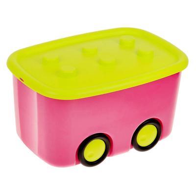 Ящик для игрушек «Моби», цвет малиновый - Фото 1