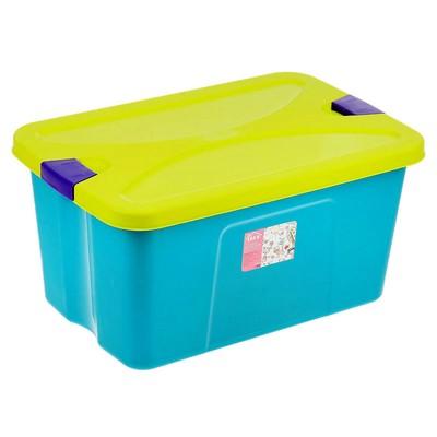 Ящик для игрушек «Секрет», цвет бирюзовый - Фото 1
