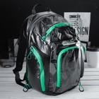 Рюкзак школьный, отдел на молнии, 3 наружных кармана, цвет чёрный