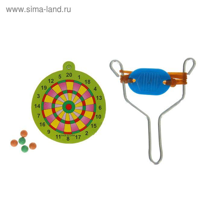 """Рогатка """"Мишень"""" с пульками и мишенью, цвета МИКС"""