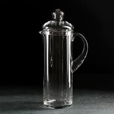 Кувшин НЕМАН «Прозрачный», 1,2 л, с крышкой - Фото 1