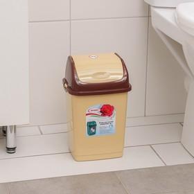 """Контейнер для мусора 4 л """"Камелия"""", цвет бежевый/коричневый"""