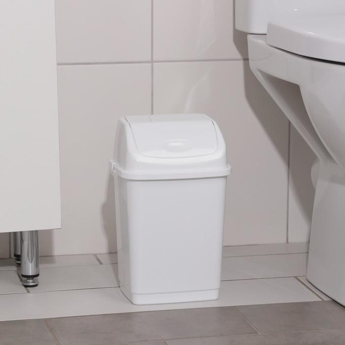 Контейнер для мусора 4 л Камелия, цвет белый