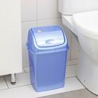 Контейнер для мусора Росспласт «Камелия», 8 л, цвет голубой перламутр