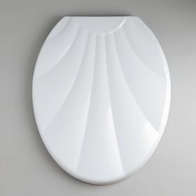 Сиденье для унитаза с крышкой «Ракушка», цвет белый