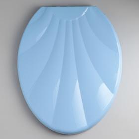 Сиденье для унитаза с крышкой «Ракушка», цвет голубой
