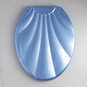 Сиденье для унитаза с крышкой «Ракушка», цвет голубой перламутр