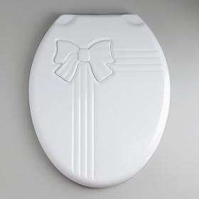 Сиденье для унитаза с крышкой «Комфорт Люкс», цвет белый