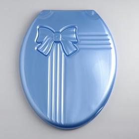 Сиденье для унитаза с крышкой «Комфорт Люкс», цвет голубой перламутр