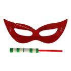 Карнавальный набор 2 предмета: маска, серпантин, Цвета МИКС
