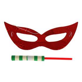 Карнавальный набор 2 предмета: маска, серпантин, Цвета МИКС Ош