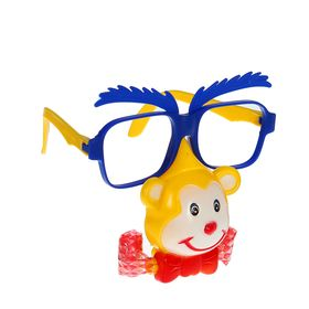 Карнавальные очки «Обезьянка», с носом и язычком, цвета МИКС Ош