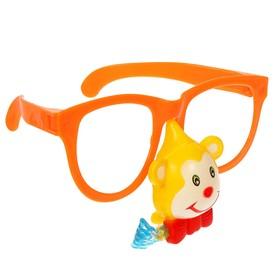 Карнавальные очки «Обезьянка», ГИГАНТ с носом и язычком, цвета МИКС Ош