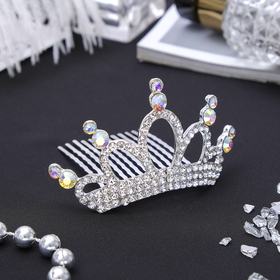 Диадема для волос 'Королевская особа' 4*8 см кристаллы Ош