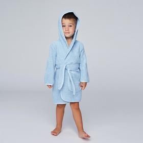 Халат махровый для мальчика, рост 110-116 см, цвет голубой К07_Д Ош