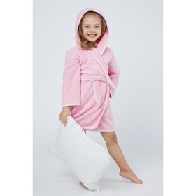 Халат махровый для девочки, рост 110-116 см, цвет розовый К07 Ош