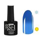 """Гель-лак для ногтей """"Термо"""", 10мл, LED/UV, цвет А2-040 светло-голубой"""