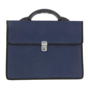 Портфель деловой ткань 350 х 260 х 100 мм,'Выборг', синий Ош