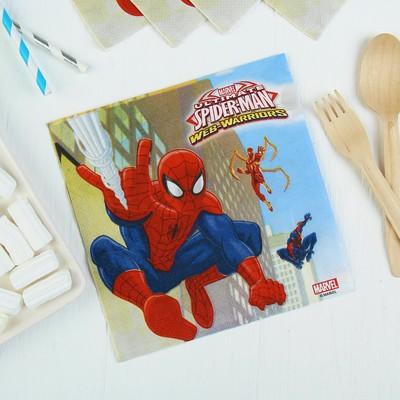 Салфетки бумажные «Человек-Паук», 33х33 см, набор 20 шт. - Фото 1