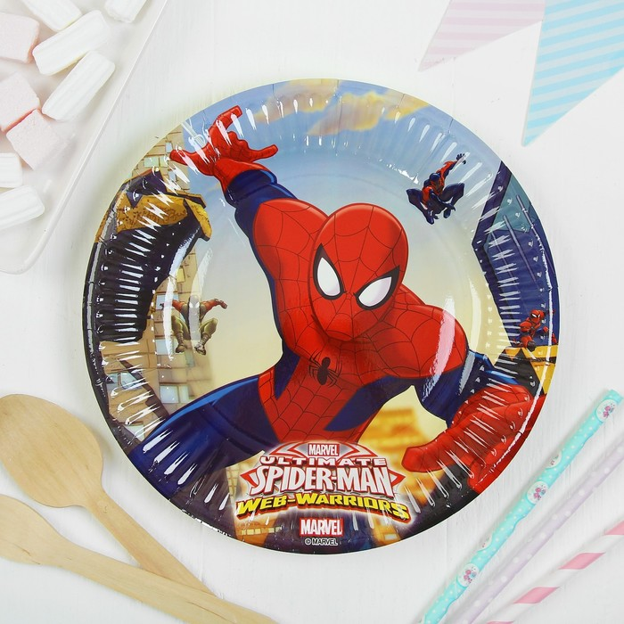 Тарелки бумажные «Человек-паук», 20 см, набор 8 шт.