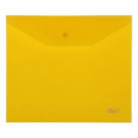 Папка-конверт на кнопке А5, 180 мкм, желтая