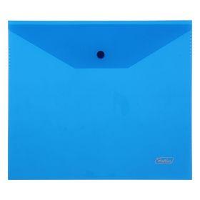 Папка-конверт на кнопке А5, 180 мкм, синяя