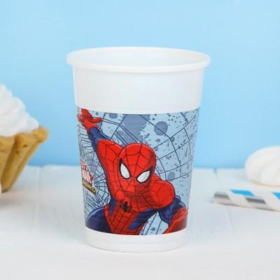 Стаканы пластиковые «Человек-паук», 200 мл, набор 8 шт. - Фото 1