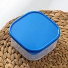 Набор контейнеров пищевых Доляна, квадратных, 2 шт: 450 мл; 700 мл, цвет голубой - Фото 3